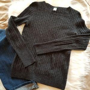 • J. Crew • Vintage Charcoal Gray Sweater